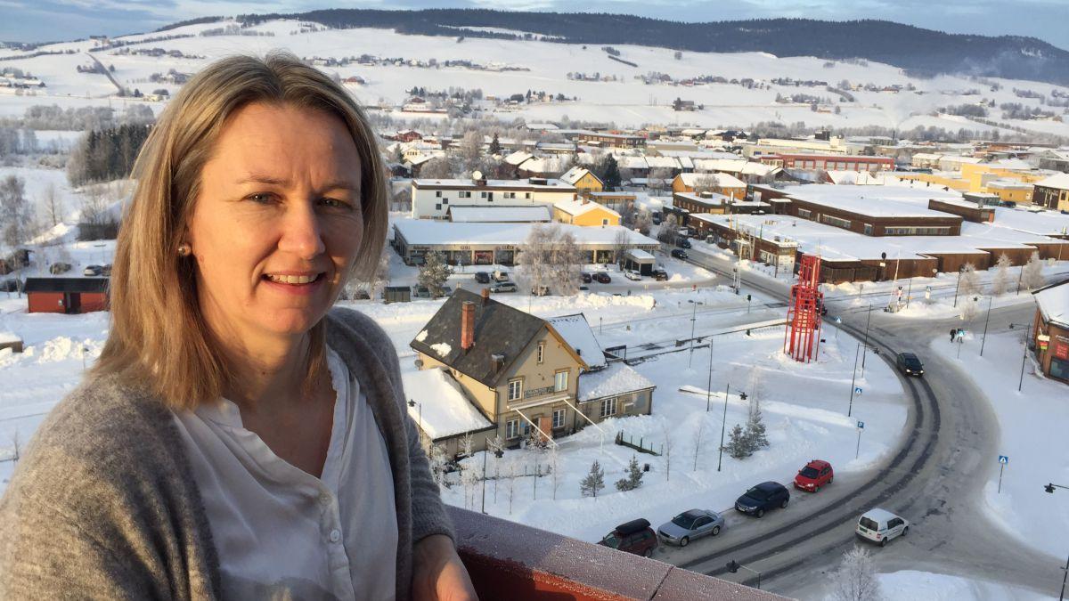SER MOT TYLLDALSLIA: Ordførere Merete Myhre Moen vil nå ha en rask sak for å legge tilrette næringsarealer i Tylldalslia. Arkivfoto: Jan Kristoffersen