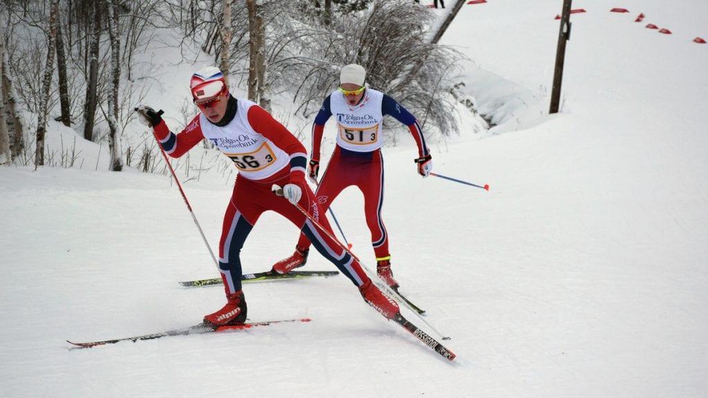 TUNGE BAKKER: Jørgen Schjølberg og de andre løperne går rett inn i ganske harde bakker.