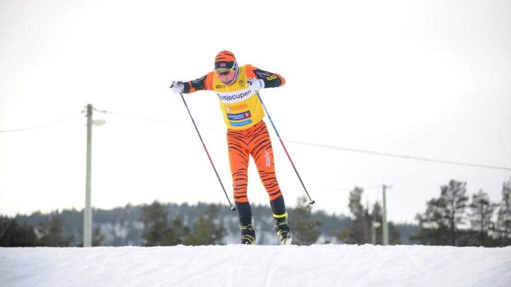 EN AV FIRE: Jonas Hylen var en av fire løpere fra kommunen som deltok under julerennet i Tydal fredag. Arkivfoto: Ivar Thoresen.