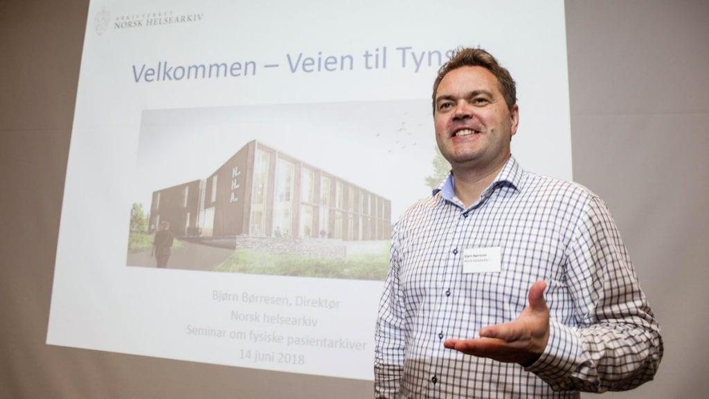 MANGE SØKERE: Bjørn Børresen er glad for at de har mer enn 150 søkere til rundt 20 produksjonsmedarbeiderstillinger. . Foto: Lars Vingelsgård