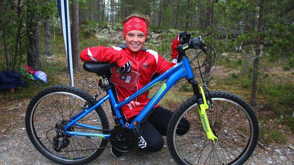 Birk vant sykkelen på Ripan