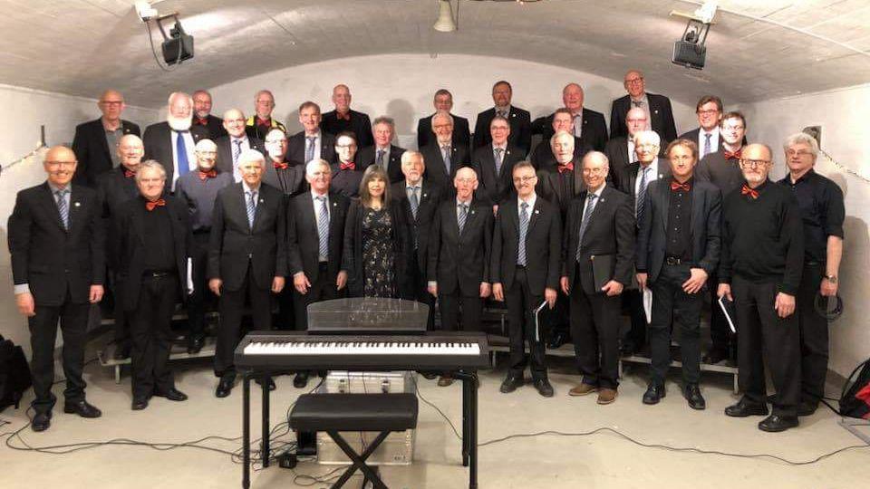FELLES AVDELING: Mannskoret Ljom og gjestekoret Dalen vil søndag holde konsert i Tronsalen. Foto: Privat