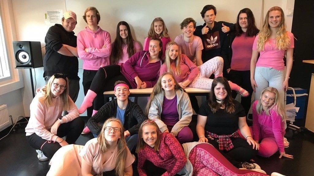 PSYKISK HELSE I FOKUS: Ungdomsbedriften Volum UB ved Nord-Østerdal videregående skole satte psykisk helse i fokus gjennom musikk. Foto: Privat.