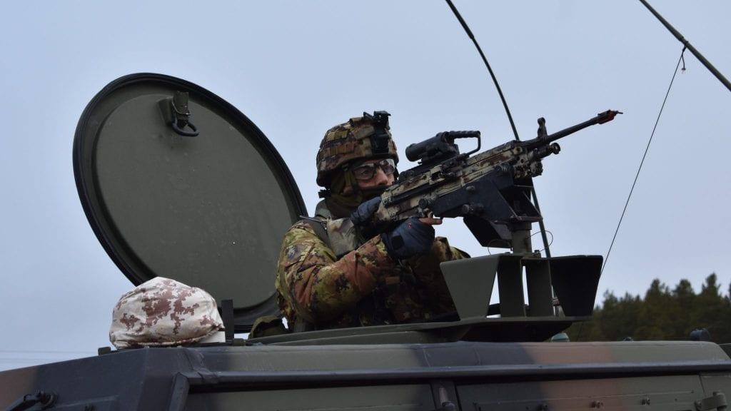 PATRULJE: Den italienske brigaden hadde mange patruljer strategisk plassert langs hovedfartsårene i Alvdal. Foto: Torstein Sagbakken.