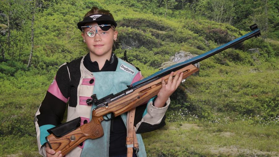 VANT SIN KLASSE: Emma Olea Eide, Tynset skytterlag, gjorde sine saker bra og vant i Øvre Rendal i helga. Foto: LS 2018