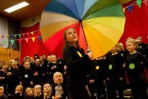 Stolte fåsetinger feiret skolens 10 første år