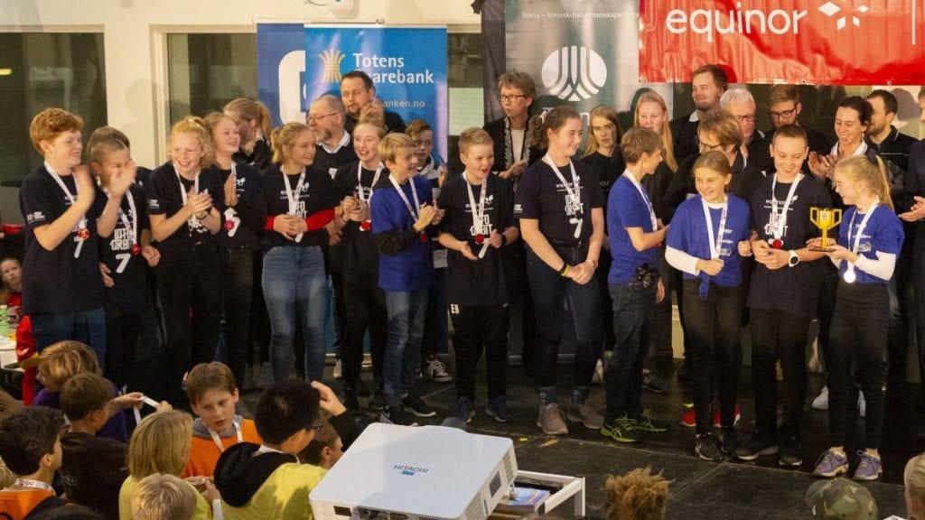 KNALLINNSATS: Tynsonautene, her avbildet under lørdagens konkurranse, gjorde sine saker meget bra. Foto: Kjell Are Refsvik