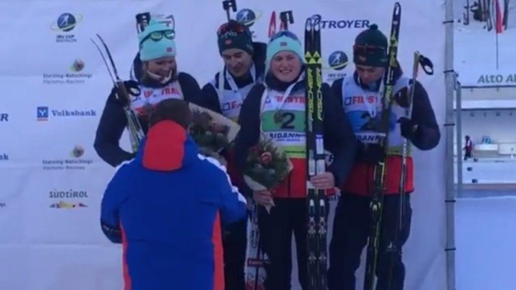 RESPEKTABELT: Det norske mix-laget imponerte med en tredjeplass i Italia. Foto: privat