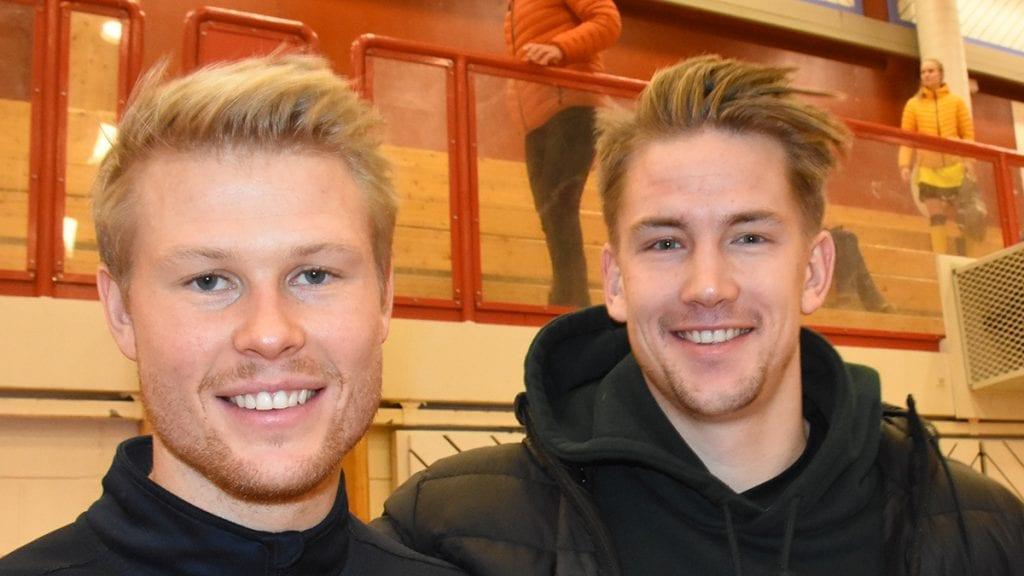 OBOS-LIGASPILLERE: Emil Fiskvik, til venstre, er klar for en ny sesong i Skeid. Det betyr at han kan møte HamKam-spiller Ole Erik Midtskogen i serieåpningen. Foto: Jan Kristoffersen