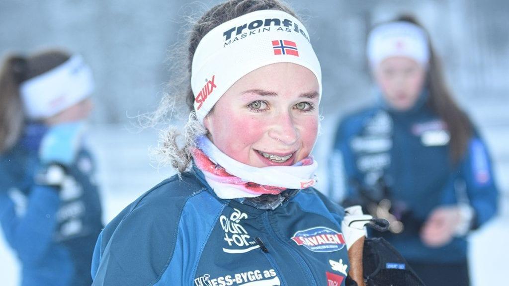 SOLID START: God trening gjennom høsten og på snøen de siste ukene har gitt resultater. Det bekrefter 2. plassen til Ida Vang på Sjusjøen søndag. Foto: Jan Kristoffersen