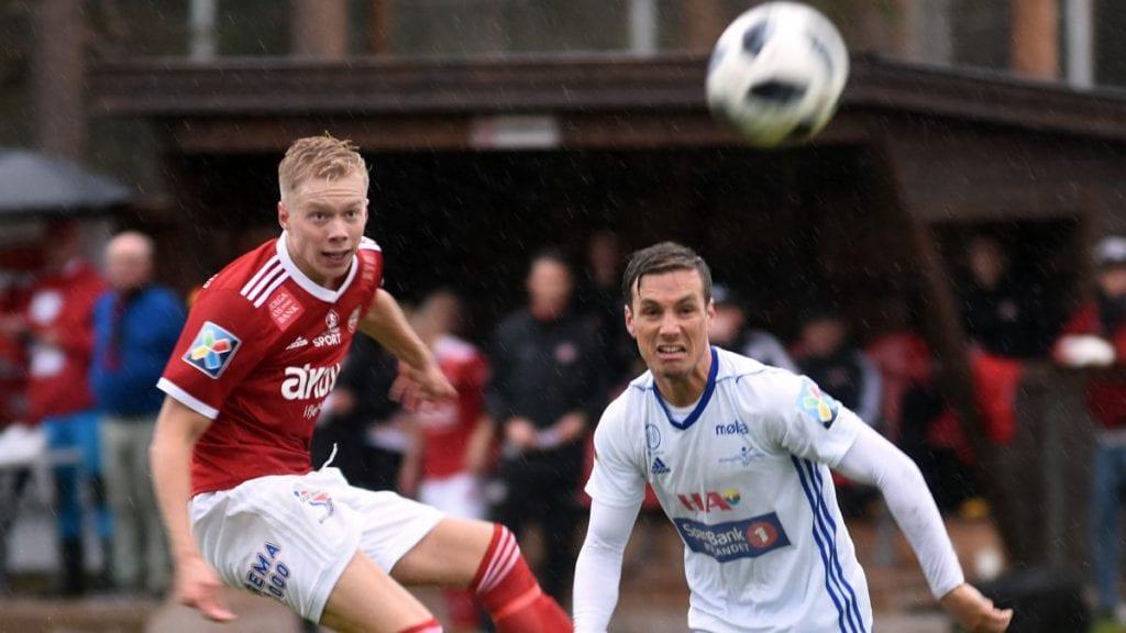 SCORET: Knut Kleppo Vangen scoret for Tynset lørdag, i bortekamp mot Heimdal. Foto: Jan Kristoffersen