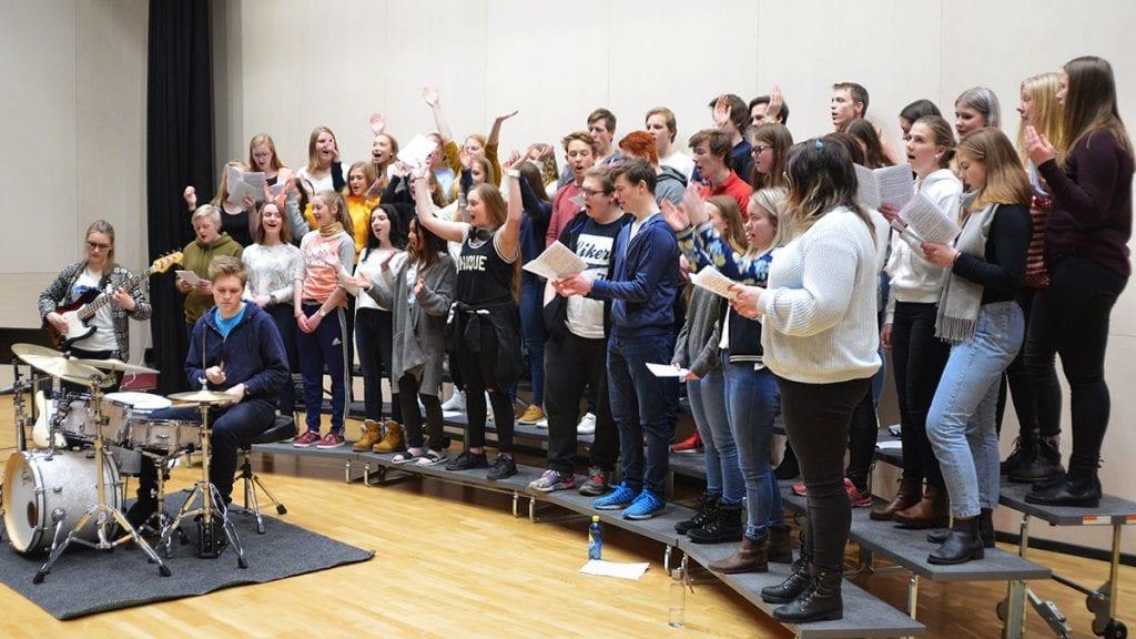 BEST: NØVGS og de andre videregående skolene i Hedmark er best i landet, her representert ved musikklinja. Arkivfoto: Erland Vingelsgård
