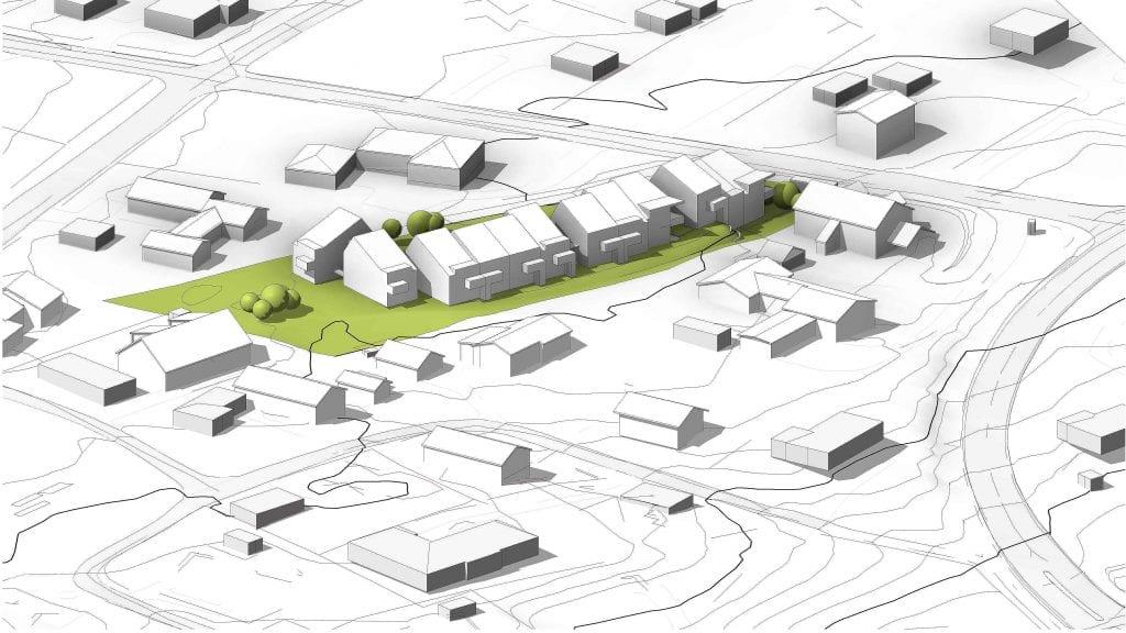 KONSENTRERT: Byggservice Nord-Østerdal AS har planene klare for 15 boliger i Aumliveien 10. ILLUSTRASJON: Anderssen + Fremming AS