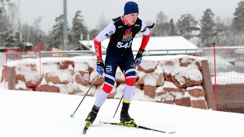 TOPPEN AV PALLEN: Søndag var det Sebastian Rød Feragen som imponerte mest. Foto: Arne Brunes