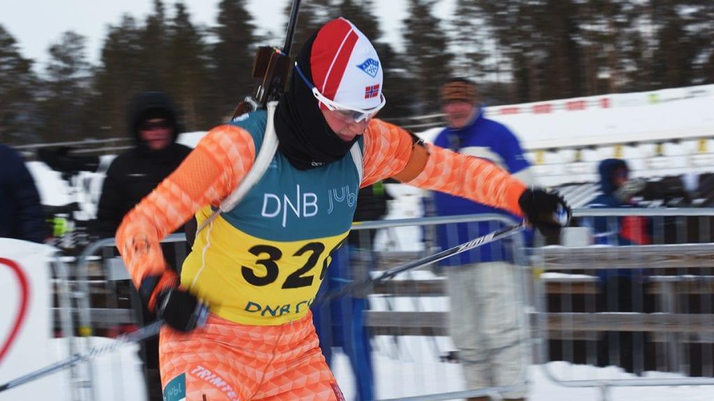 BLE BLYTUNGT: Under tøffe forhold mot knalltøff motstand ble EM-starten tøff for Eline Grue. Her avbildet under Norges Cup på Os i starten av februar. Foto: Jan Kristoffersen