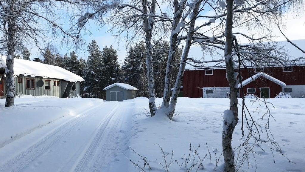 GARDSTUNET: Jon Arne Hugudal vil beholde 18,5 dekar rundt gardstunet, men får kanskje ikke mer enn 8,5. Foto: Erland Vingelsgård