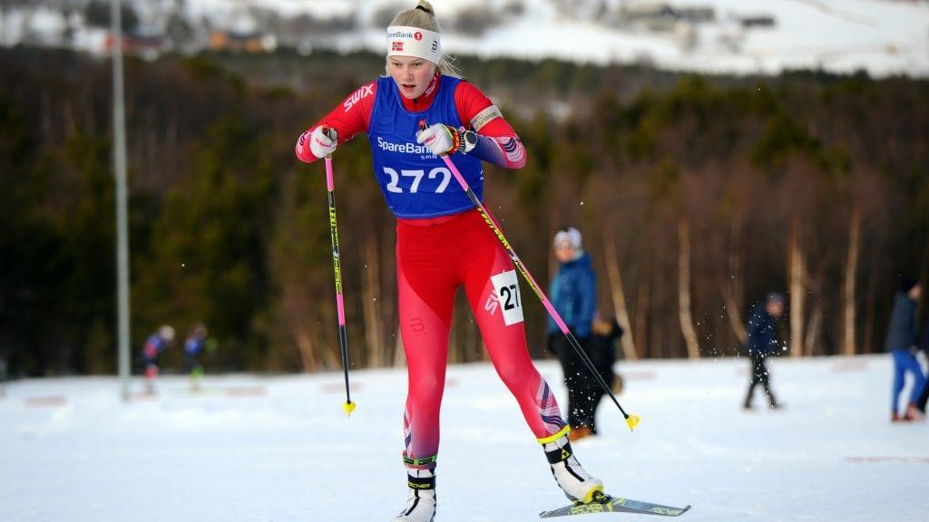 LEVERTE GODT: Mari Grøtli Svergja havnet på en sterk fjerdeplass under lørdagens sprint i hovedlandsrennet. Foto: Arne Brunes