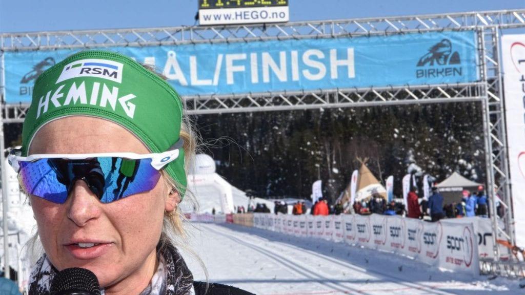 BRONSE: Marion Rønning Huber, her avbildet etter hennes Birken-debut i fjor, gikk inn til bronsemedalje i NM stafett. Foto: Jan Kristoffersen