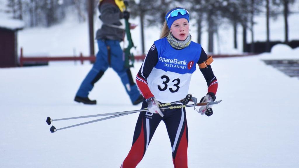 ÅPNET MED ANDREPLASS: Kvikne-jenta Maja Tørhaug Brevad åpnet skiskytterfestivalen med en knallsterk andreplass. Arkivfoto: Torstein Sagbakken.