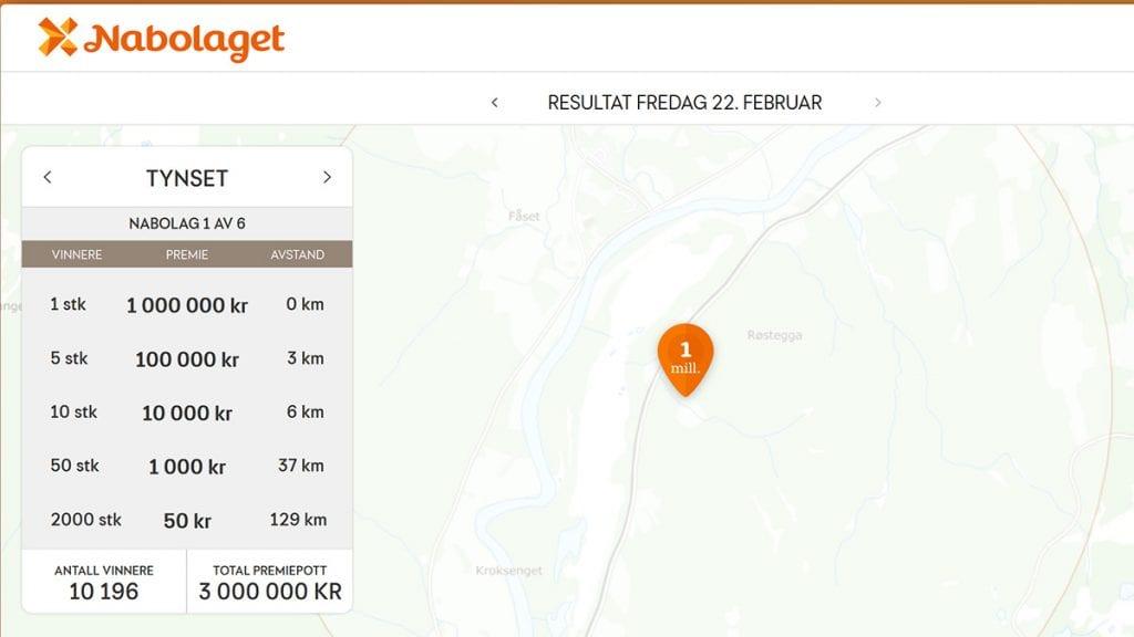 RINGVIRKNINGER: Arne Stubberud ble sentrum for fredagens utbetaling i Nabolaget. Skjermdump: Norsk-Tipping.no