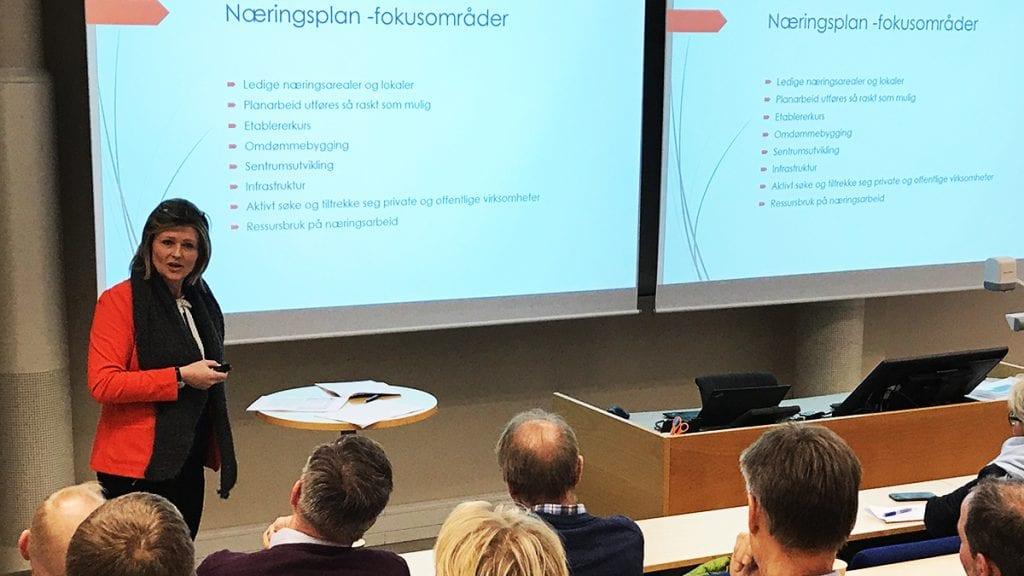 STYRKE PLANAVDELINGEN: Varaordfører Tone Hagen mener politikerne nå må se på muligheten til å styrke planavdelingen. Ikke minst med tanke på alt det positive som skjer i Tynset for tiden. Foto: Jan Kristoffersen