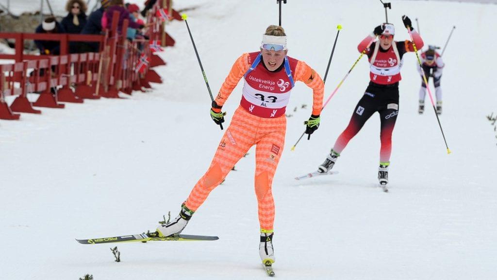 VANT: Eline Grue sikret en fin plassering lørdag og vant sammenlagt. Foto: Svein Halvor Moe