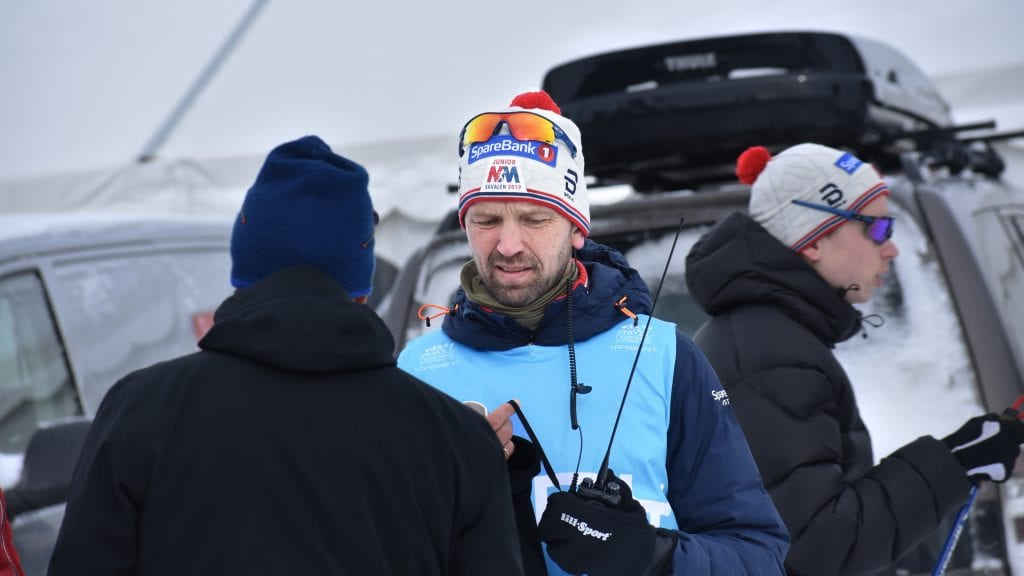 FORNØYD RENNLEDER: Geir Schjølberg er strålende fornøyd med hvordan junior-NM gikk for seg på Savalen. Foto: Torstein Sagbakken.