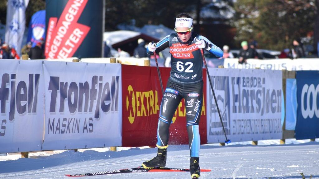 GODT LØP: Tynsets Ida Vang presterte strålende på hjemmebane under lørdagens renn på Savalen. Alle foto: Torstein Sagbakken.