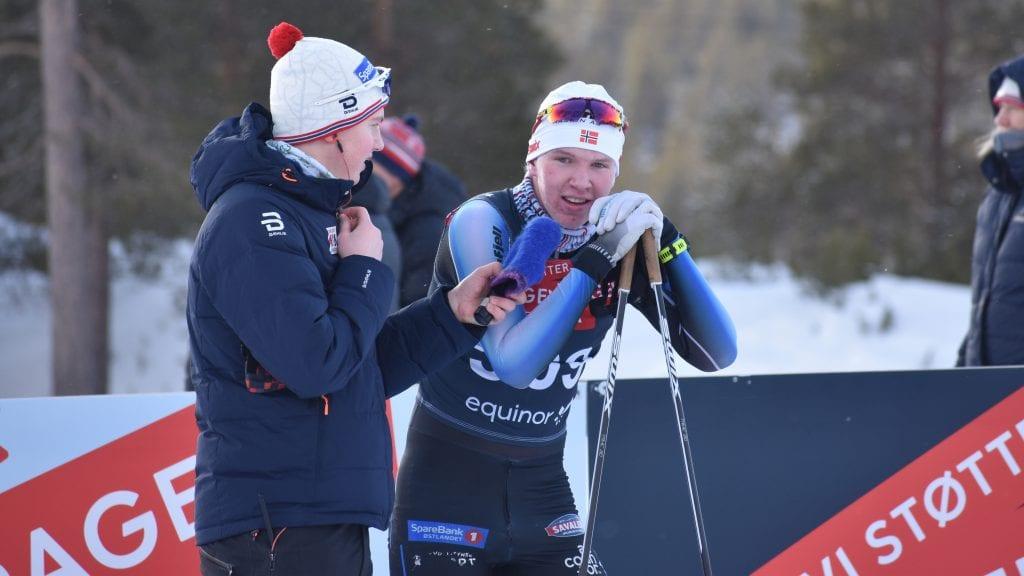 BEST AV DE LOKALE: Jørgen Schjølberg ble nummer 30 under fredagens ti kilometer fristil under junior-NMs åpningsrenn på Savalen. Begge foto: Torstein Sagbakken.