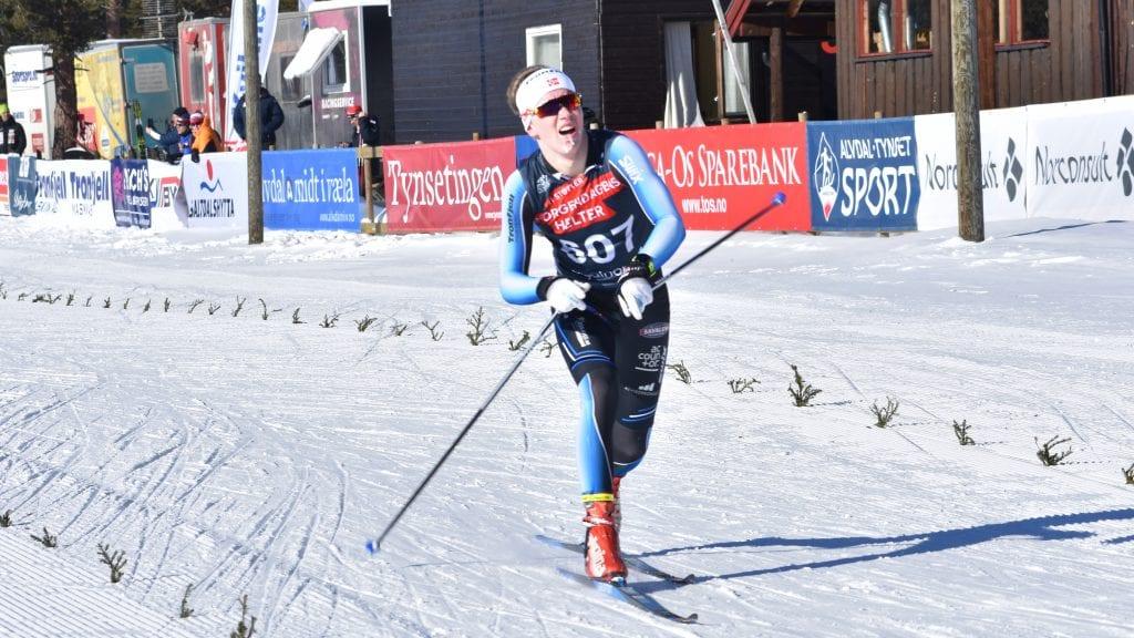 KANONGODT LØP: Jørgen Schjølberg leverte strålende på lørdag under junior-NM i langrenn på Savalen. Alle foto: Torstein Sagbakken.