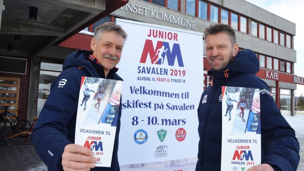 STORT: Per Inge Sagmoen (til venstre) og Geir Schjølberg er klare for NM og håper at mange i distriktet også tar turen til Savalen neste helg. Foto: Erland Vingelsgård