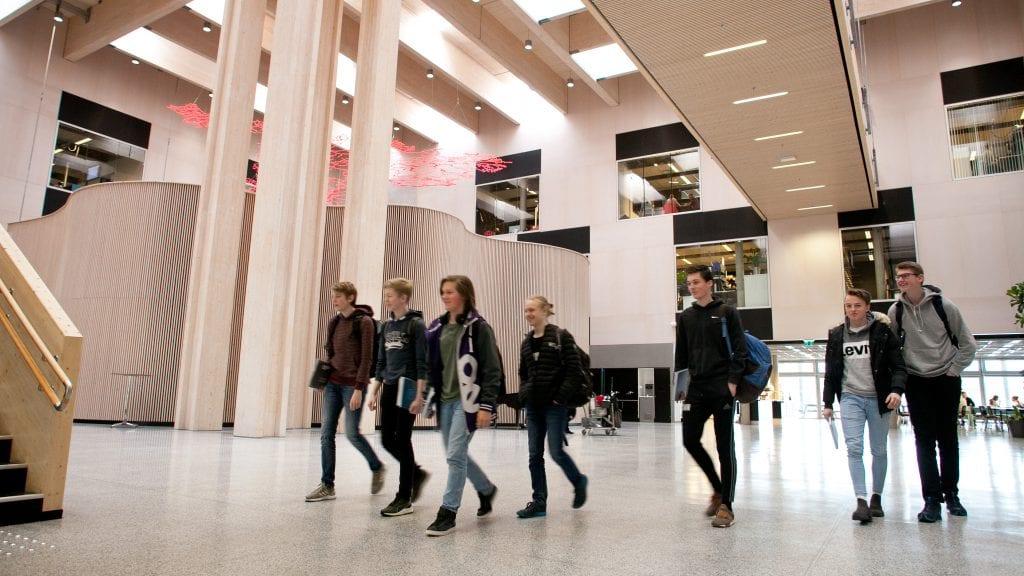 BERLIN NESTE: Nord-Østerdal videregående skole skal stilles ut sammen med 11 andre skoler fra 12 land i Berlin til sommeren. Foto: Anne Skjøtskift.