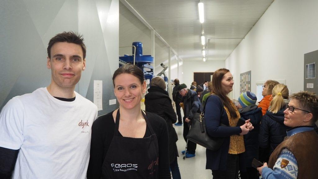 FULLSATT MØLLE: Endelig kunne Aasmund og Ingrid Gardseth åpne opp Dyrk Mølle for publikum. Foto: Audun Jøstensen Lutnæs