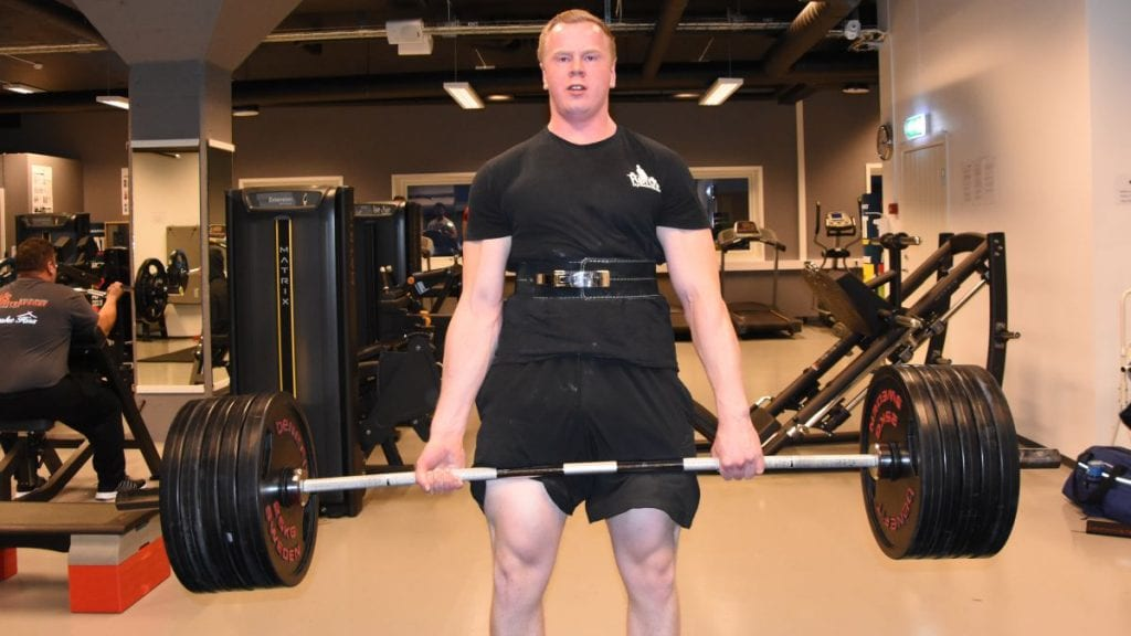 NORGESMESTER: Anders Brøten Lillemoe ble norgesmester i sin klasse under NM i styrkeløft i Bergen lørdag kveld. Samtidig satte han en råsterk norsk rekord. Arkivfoto: Jan Kristoffersen