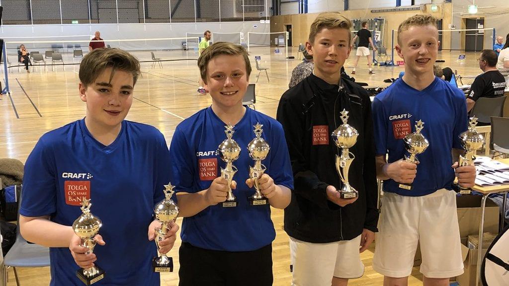 U15B: Denne kvartetten gjorde sine saker bra i klasse U15B. Fra venstre: Edvard Fodstad Dacje, Sander Grøntvedt, Magnus Søberg og Pawel Jakub Saluter. Foto: Embret Nordseth