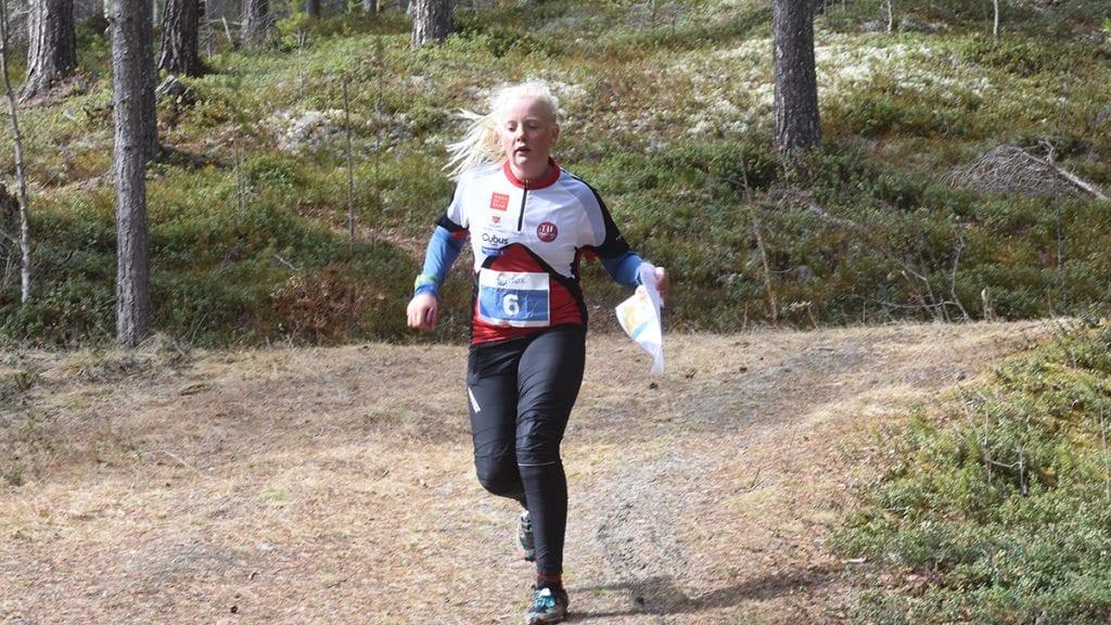 RASKEST: Synne Kvittum Nytrøen var raskest i sin klasse undet finalen i NØK sprintcup i orientering. Foto: Jan Kristoffersen